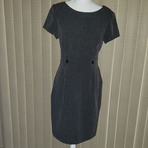 Women's Gray Dress with Black Buttons